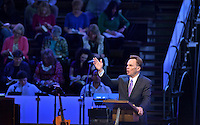 NWA Democrat-Gazette/BEN GOFF -- 06/07/15 Dr. Ronnie Floyd, senior pastor of Cross Church and president of the Southern Baptist Convention, delivers his sermon during service at Cross Church Pinnacle Hills in Rogers on Sunday June 7, 2015.