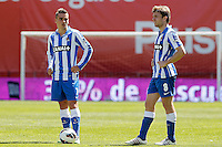 Real Sociedad's Antoine Griezman (l) and Asier Illarramendi during La Liga match.April 14,2013. (ALTERPHOTOS/Acero)