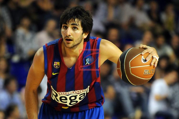 Ricky Rubio. Regal FC Barcelona vs Lagun Aro GBC: 81-55 - League ACB 2010/11 - Game: 32.