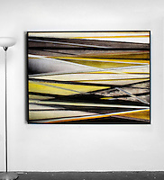 "Evans: , Digital Print, Framed Dims. Black Float, 63.25"" x 48"" x 2"" , Horizontal or Vertical"