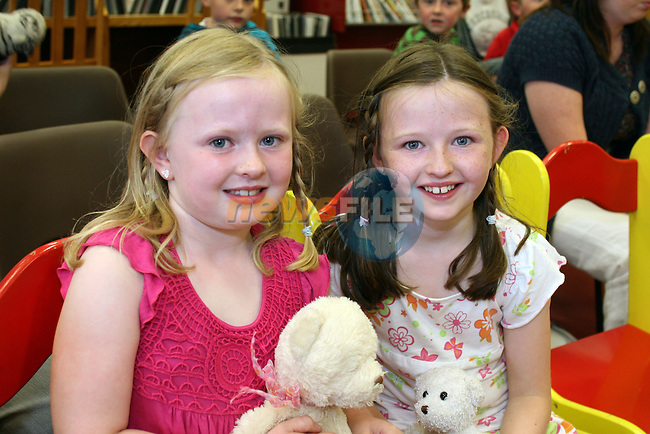 Niamh and Katie Harrison at Storytime in Drogheda Library..Photo NEWSFILE/Jenny Matthews.(Photo credit should read Jenny Matthews/NEWSFILE)....This Picture has been sent you under the condtions enclosed by:.Newsfile Ltd..The Studio,.Millmount Abbey,.Drogheda,.Co Meath..Ireland..Tel: +353(0)41-9871240.Fax: +353(0)41-9871260.GSM: +353(0)86-2500958.email: pictures@newsfile.ie.www.newsfile.ie.FTP: 193.120.102.198.