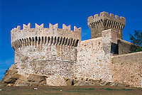Italien, Toskana, Rocca von Populonia