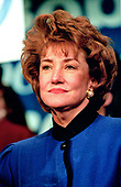 Elizabeth Dole campaigns for her husband, United States Senate Majority Leader Bob Dole (Republican of Kansas), a candidate for the Republican Party nomination for President of the United States, at a rally in Nashua, New Hampshire on February 17, 1996.<br /> Credit: Ron Sachs / CNP