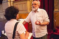 Roma, Teato Argentina, 28/06/2016. Il Regista/Attore Riccardo Vannuccini durante un'intervista in occasione della prima dello spettacolo Respiro.