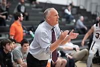 Brian Newhall, Coach<br /> The Occidental College men's basketball team plays against Claremont-Mudd-Scripps on February 12, 2020 in Rush Gym. Oxy won 58-49.<br /> (Photo by Marc Campos, Occidental College Photographer)