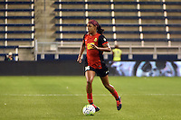 Kansas City, Kansas - Saturday April 16, 2016: Western New York Flash defender Jessica McDonald (14) moves the ball against FC Kansas City at Children's Mercy Park. Western New York won 1-0.