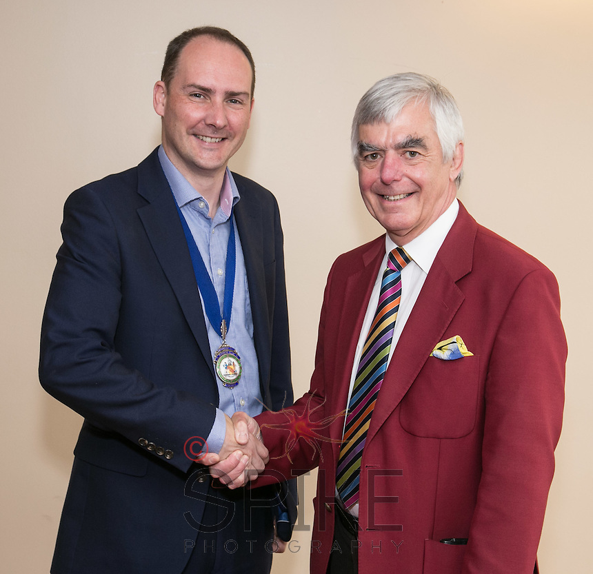 Pictured are club President James Simmonds (left) with Guest Speaker Steve Potts of Ingenuity, based at the University of Nottingham