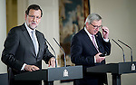 The President of Spain Mariano Rajoy during the news conferencein Moncloa Palace. 2015703/04. Samuel de Roman / Photocall3000.