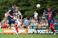HAREN - Voetbal, FC Groningen - SM Caen, voorbereiding seizoen 2018-2019, 04-08-2018, uithaal FC Groningen speler Tom van Weert