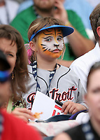 Young fan during warmups before the Triple-A All-Star Game at Fifth Third Field on July 10, 2006 in Toledo, Ohio.  (Mike Janes/Four Seam Images)