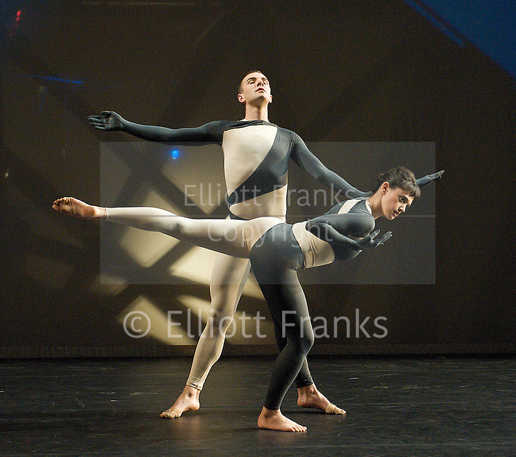Nearly Ninety<br /> The Merce Cunningham Dance Company <br /> choreography by Merce Cunningham<br /> at The Barbican Theatre, London, Great Britain <br /> rehesrsal <br /> 26th October 2010 <br /> <br /> <br /> <br /> Brandon Collwes<br /> Emma Desjardins<br /> <br /> <br /> <br /> Photograph by Elliott Franks<br /> 2010&copy;Elliott Franks
