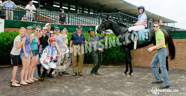 Comancheria with Keri Brion aboard winning The International Ladies Fegentri  at Delaware Park racetrack on 6/9/14