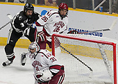 Conor MacPhee (PC - 29), Jacob Olson (Harvard - 26), Merrick Madsen (Harvard - 31) - The Harvard University Crimson defeated the Providence College Friars 3-0 in their NCAA East regional semi-final on Friday, March 24, 2017, at Dunkin' Donuts Center in Providence, Rhode Island.