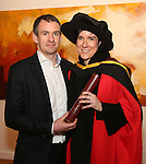 20/1/2015   (with compliments)  Attending the University of Limerick conferrings on Tuesday afternoon were Dr Rachel McEvoy, Killimor, Ballinasloe, Galway who was conferred with a PHD with Shane McClearn.<br /> Picture Liam Burke/Press 22