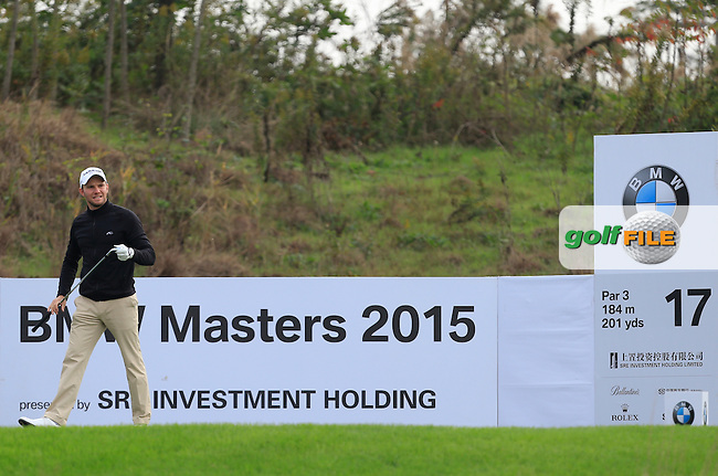 Maximilian Kieffer (GER) on the 17th tee during the Pro-Am for the BMW Masters at Lake Malaren Golf Club in Boshan, Shanghai, China on Wednesday 11/11/15.<br /> Picture: Thos Caffrey | Golffile