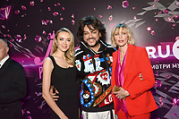 Ksenia Suhinova, Filipp Kirkorov, Nadja Auermann<br /> Final of beauty contest &quot;Miss Russian Radio 2018&quot; at Central Arena, Moscow, Russia on May 31, 2018.<br /> CAP/PER/EN<br /> &copy;EN/PER/Capital Pictures