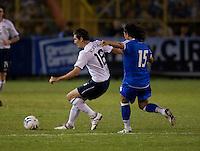 Sacha Kljestan (16) controls the ball against Alfredo Pachecho (15) during FIFA World Cup qualifier against El Salvador. USA tied El Salvador 2-2 at Estadio Cuscatlán Stadium in El Salvador on March 28, 2009.