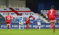 Cyrus Christie of Fulham celebrates his goal during Queens Park Rangers vs Fulham, Sky Bet EFL Championship Football at the Kiyan Prince Foundation Stadium on 30th June 2020