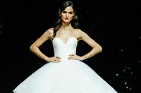 Pronovias fashion show during the Valmont Barcelona Bridal Fashion Week at the Italian Pavilion Fira Montjuic in Barcelona on April 26, 2019.<br /> Blanca Padilla