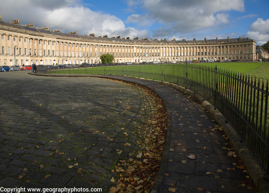 The Royal Crescent, architect John Wood the Younger built between 1767 and 1774, Bath, Somerset, England