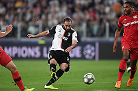 Gonzalo Higuain of Juventus scores the goal of 1-0 for his side <br /> Torino 01/10/2019 Juventus Stadium <br /> Football Champions League 2019//2020 <br /> Group Stage Group D <br /> Juventus - Leverkusen <br /> Photo Andrea Staccioli / Insidefoto