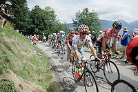 polka dot jersey contenders Rafal Majka (POL/Tinkoff) &amp; Thomas De Gendt (BEL/Lotto-Soudal) coming up the first (uncategorised) climb together<br /> <br /> Stage 19:  Albertville &rsaquo; Saint-Gervais /Mont Blanc (146km)<br /> 103rd Tour de France 2016