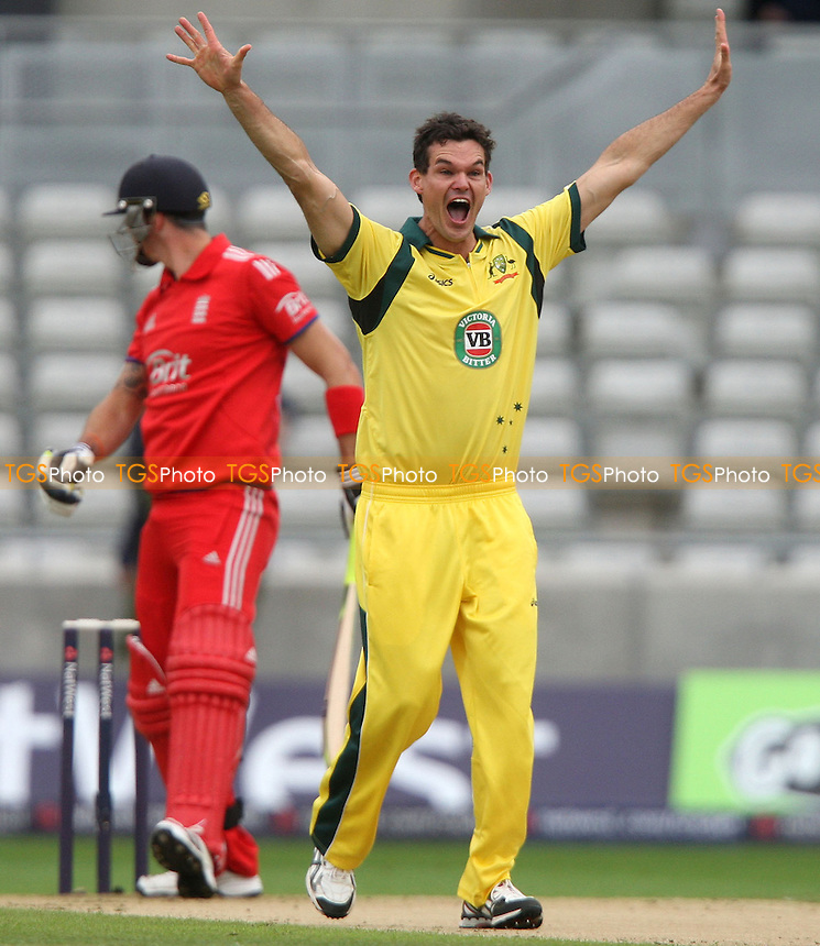 Clinton Mckay of Australia appeals for a wicket - England vs Australia, Natwest Series One Day International Cricket at Edgbaston - 11/09/13 - MANDATORY CREDIT: Rob Newell/TGSPHOTO - Self billing applies where appropriate - 0845 094 6026 - contact@tgsphoto.co.uk - NO UNPAID USE