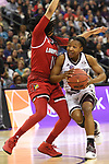 COLUMBUS, OH - MARCH 30: Morgan William #2 of the Mississippi State Bulldogs  drives to the basket against Arica Carter #11 of the Louisville Cardinals during a semifinal game of the 2018 NCAA Division I Women's Basketball Final Four at Nationwide Arena in Columbus, Ohio. (Photo by Justin Tafoya/NCAA Photos via Getty Images)