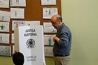 ATENÇÃO EDITOR: FOTO EMBARGADA PARA VEÍCULOS INTERNACIONAIS. SAO PAULO, 07  DE OUTUBRO DE 2012 . ELEICAO 2012 SP - PRONUNCIAMENTO JOSE SERRA. O candidato do PSDB a prefeitura de Sao Paulo, Jose Serra, durante pronunciamento após a apuração dos votos da eleição para prefeito, na noite de domingo, no comitê central da campanha na zona central da capital paulista   FOTO ADRIANA SPACA/BRAZIL PHOTO PRESS