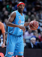 Asefa Estudiantes' Tariq Kirksay during Liga Endesa ACB match.January 6,2012. (ALTERPHOTOS/Acero) /NortePhoto