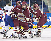 Elias Godoy, Dan Bertram, Brian Boyle, Lowell ?, Stephen Gionta - The University of Massachusetts-Lowell River Hawks defeated the Boston College Eagles 6-3 on Saturday, February 25, 2006, at the Paul E. Tsongas Arena in Lowell, MA.