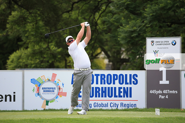 Merrick Bremner (RSA) in action during Round Three of the 2016 BMW SA Open hosted by City of Ekurhuleni, played at the Glendower Golf Club, Gauteng, Johannesburg, South Africa.  09/01/2016. Picture: Golffile | David Lloyd<br /> <br /> All photos usage must carry mandatory copyright credit (&copy; Golffile | David Lloyd)