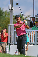 Ryuko Tokimatsu JAP) watches his tee shot on 1 during 3rd round of the World Golf Championships - Bridgestone Invitational, at the Firestone Country Club, Akron, Ohio. 8/4/2018.<br /> Picture: Golffile | Ken Murray<br /> <br /> <br /> All photo usage must carry mandatory copyright credit (© Golffile | Ken Murray)