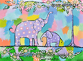 Nettie,REALISTIC ANIMALS, REALISTISCHE TIERE, ANIMALES REALISTICOS, paintings+++++FamilyElephants,USLGNETPRI34,#A#, EVERYDAY pop art