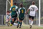 Palos Verdes, CA 02/07/12 - Arthur Rietdyk (Peninsula #28) in action during the Mira Costa vs Peninsula Boys Varsity soccer bay league game.
