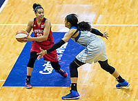 Washington, DC - Sept 17, 2017: Minnesota Lynx Mya Moore playes defemse against Washington Mystics guard Kristi Toliver (20) during playoff game between the Mystics and Lynx at the Verizon Center in Washington, DC. (Photo by Phil Peters/Media Images International)
