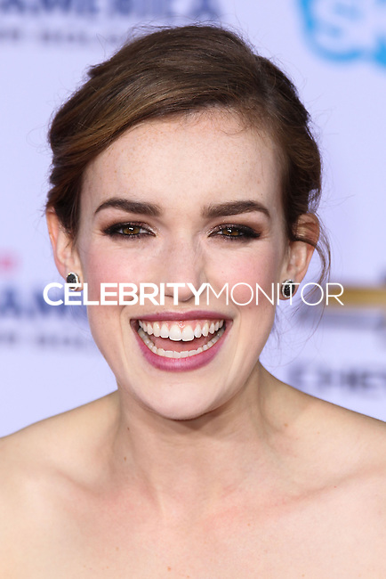 """HOLLYWOOD, LOS ANGELES, CA, USA - MARCH 13: Elizabeth Henstridge at the World Premiere Of Marvel's """"Captain America: The Winter Soldier"""" held at the El Capitan Theatre on March 13, 2014 in Hollywood, Los Angeles, California, United States. (Photo by Xavier Collin/Celebrity Monitor)"""