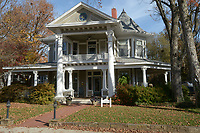 NWA Democrat-Gazette/ANDY SHUPE<br /> The Alf Williams House, located at 310 N. Washington Ave., sits Friday, Nov. 10, 2017, surrounded by other historic homes in the Washington-Willow Historic District in Fayetteville. The Fayetteville Historic District Commission has asked city staff to come up with a first draft of a historic preservation ordinance.
