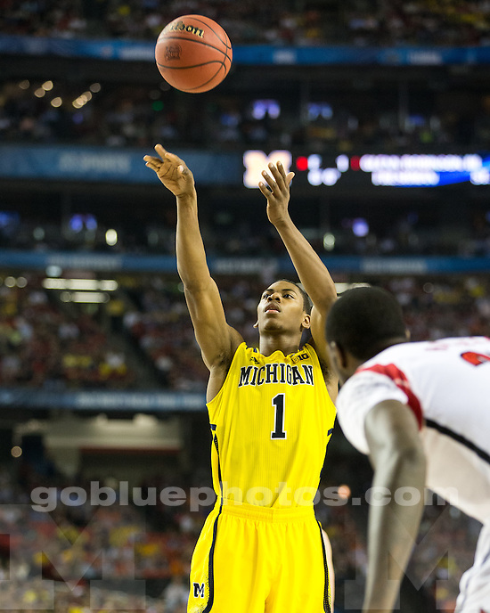 The University of Michigan men's basketball team lost to Louisville, 82-76, in the NCAA National Championship game at the Georgia Dome in Atlanta, Ga., on April 8, 2013.