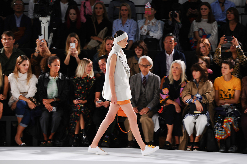 Catwalk<br /> at the Anya Hindmarch catwalk show as part of London Fashion Week SS17, Lindley Hall, London<br /> <br /> <br /> ©Ash Knotek  D3155  17/09/2016