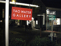Tao Water Gallery Sign in Provincetown, MA August 2008