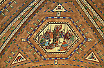 Detail of ceiling mosaic, East Chamber, Nebraska State Capitol, Lincoln, Nebraska, USA