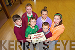 AWARD: Ian Horgan, Scott Winter, Killian Buckley, Ciara Larkin, Abbie Moloney and Clodagh Joy showing off the award for Active Member of the HSE South, Health Promoting School 2012/2013 in Duagh NS on Friday.