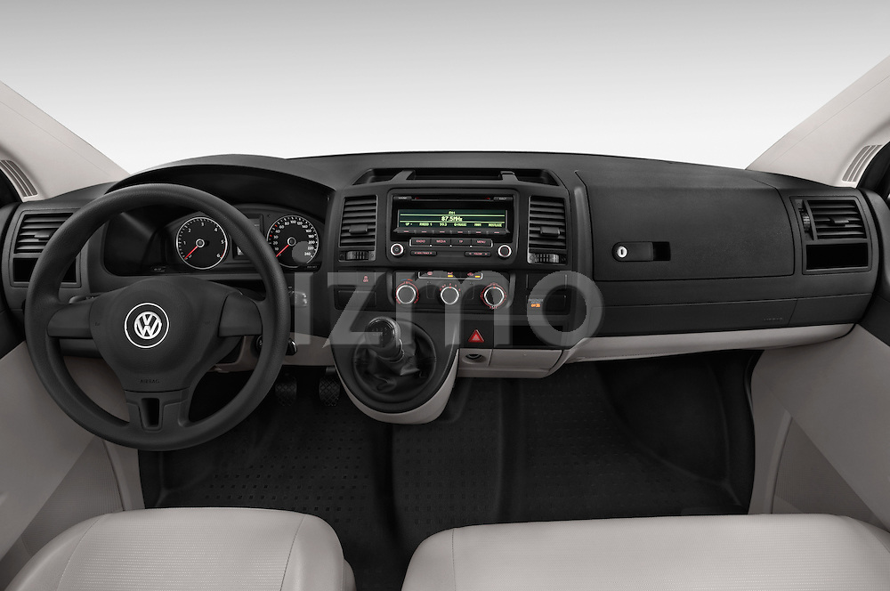 Stock photo of straight dashboard view of a 2015 Volkswagen Transporter 2.0 Tdi Bvm6 4 Door Cargo Van Dashboard