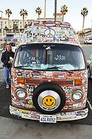 Hippie Volkswagen Van at the Huntington Beach Pier
