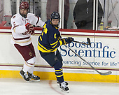Casey Fitzgerald (BC - 5), Alex Carle (Merrimack - 6) - The visiting Merrimack College Warriors defeated the Boston College Eagles 6 - 3 (EN) on Friday, February 10, 2017, at Kelley Rink in Conte Forum in Chestnut Hill, Massachusetts.