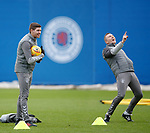 19.12.2019 Rangers training: Steven Gerrard and Tom Culshaw
