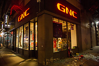 NEW YORK, NEW YORK - JUNE 1: View of a  store damaged by protesters on June 1, 2020 in New York. The protests spread across the country in at least 30 cities across the United States, over the death of unarmed black man George Floyd at the hands of a police officer, this is the latest death in a series of police deaths of black Americans. Today is the first night of a curfew in New York City (Photo by Pablo Monsalve / VIEWpress via Getty Images)