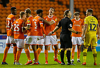 Blackpool's Joe Nuttall celebrates scoring his side's fifth goal <br /> <br /> Photographer Alex Dodd/CameraSport<br /> <br /> EFL Leasing.com Trophy - Northern Section - Group G - Blackpool v Morecambe - Tuesday 3rd September 2019 - Bloomfield Road - Blackpool<br />  <br /> World Copyright © 2018 CameraSport. All rights reserved. 43 Linden Ave. Countesthorpe. Leicester. England. LE8 5PG - Tel: +44 (0) 116 277 4147 - admin@camerasport.com - www.camerasport.com