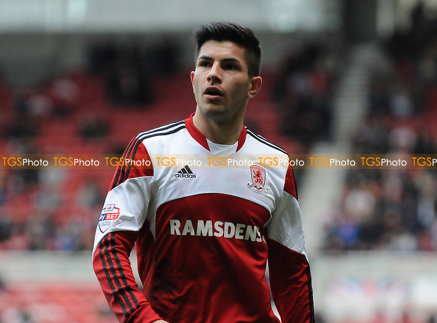 Emmanuel Ledesma of Middlesbrough - Middlesbrough vs Derby County - Sky Bet Championship Football at the Riverside Stadium, Middlesbrough - 05/04/14 - MANDATORY CREDIT: Steven White/TGSPHOTO - Self billing applies where appropriate - 0845 094 6026 - contact@tgsphoto.co.uk - NO UNPAID USE